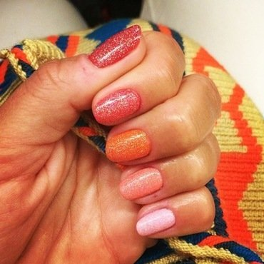 50 shades of orange is the new grey-diant. nail art by NAMInails