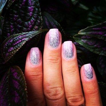 glitter fill. nail art by NAMInails