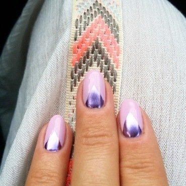 foil-low me. nail art by NAMInails