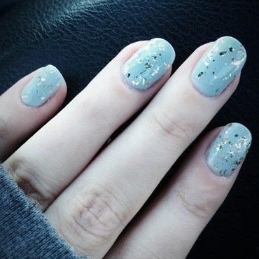 Gold Flake nail art by Breanna S