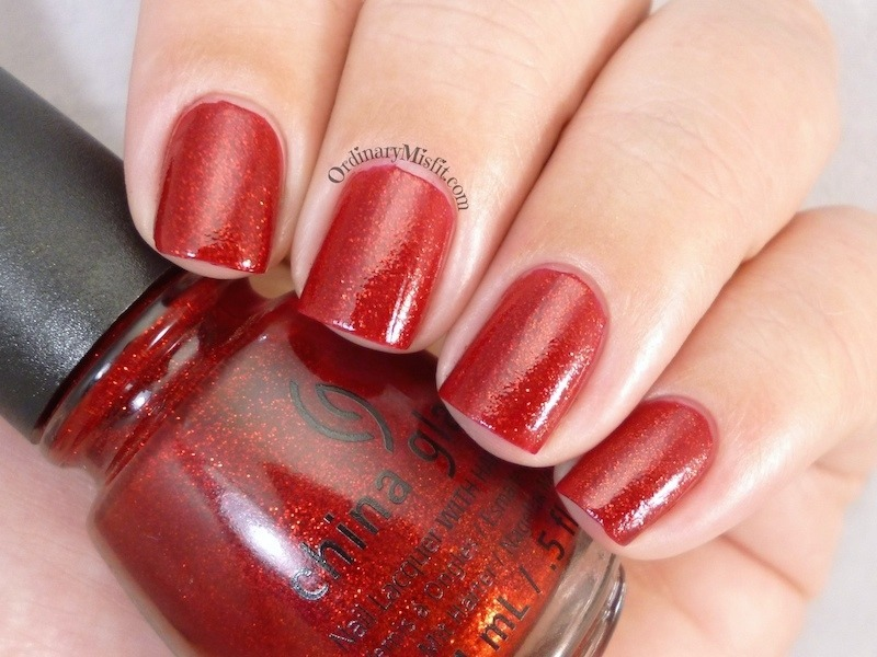 China Glaze Ruby pumps Swatch by Michelle