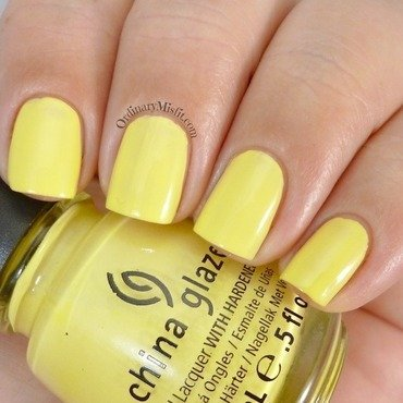 China Glaze Lemon fizz Swatch by Michelle