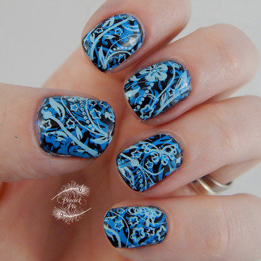 Double Stamping inspired by Manic Talons nail art by Serra Clark
