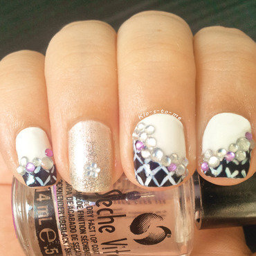 Purple Strass nail art by klo-s-to-me