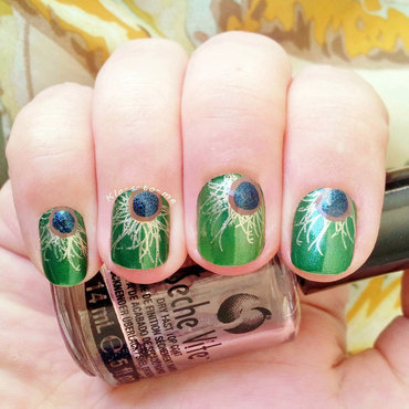 Peacock nail art by klo-s-to-me