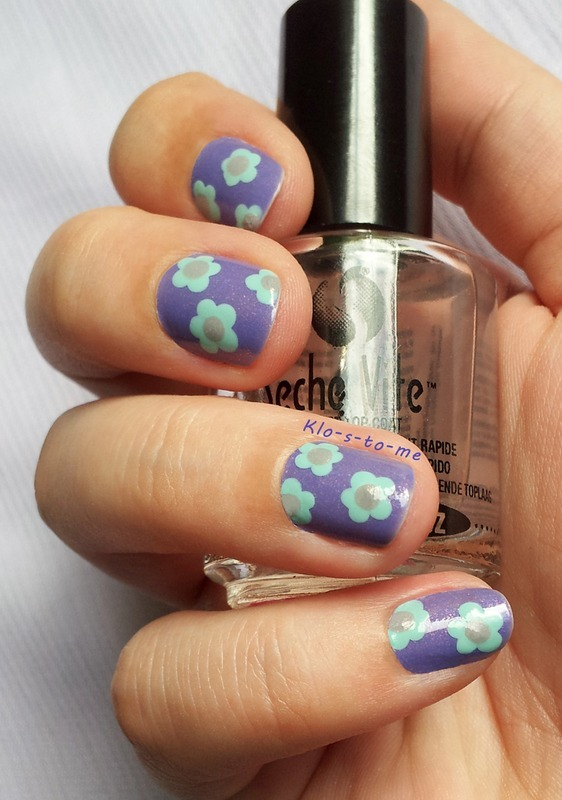 Blue Flowers nail art by klo-s-to-me