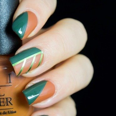 Fall Color Block nail art by  Petra  - Blingfinger