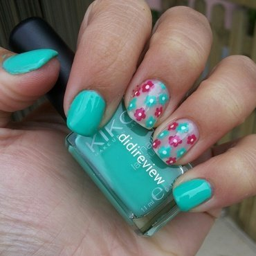 flowers & flowers  nail art by Didi didireview