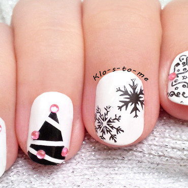 Noël Chic nail art by klo-s-to-me