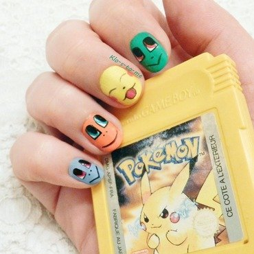 Pokemon GO ! nail art by klo-s-to-me