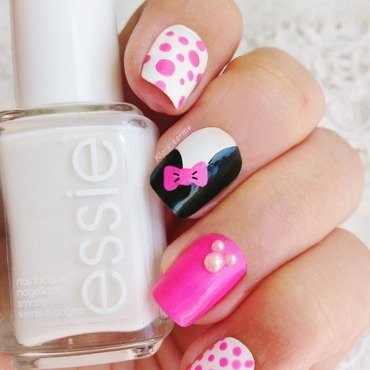 Nail Art Minnie nail art by klo-s-to-me