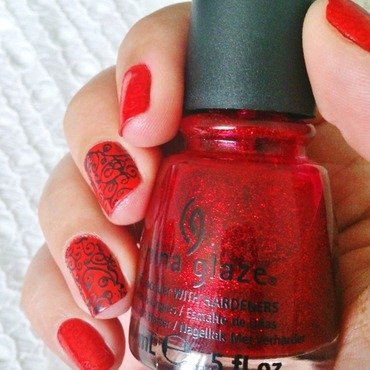 Stamping Flamenco Style nail art by klo-s-to-me