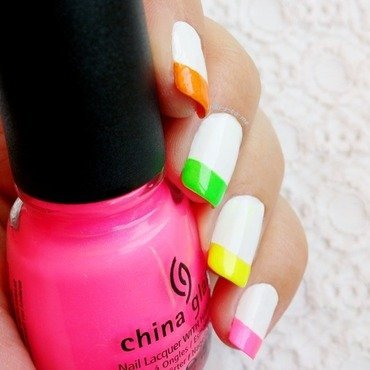 Neon nail art by klo-s-to-me