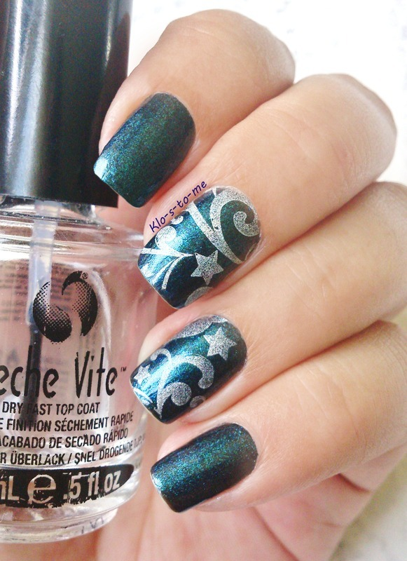 Magic Blue nail art by klo-s-to-me
