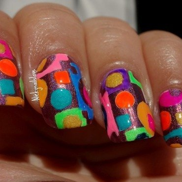 Geometric Nails nail art by Nicky