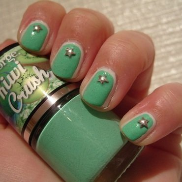 Minty Goodness nail art by Lina-Elvira