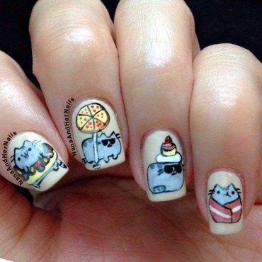 Pushen cat nail art by Polishlicious