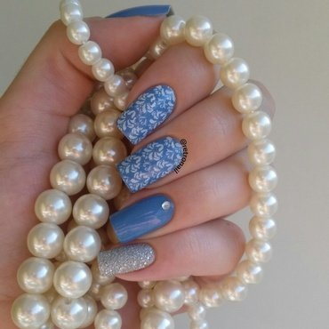Baroque & Bling nail art by retronail