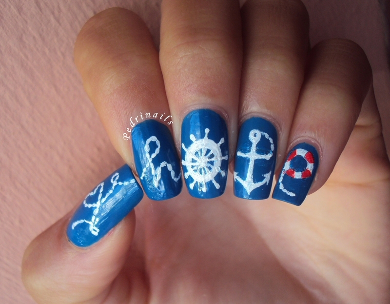 Love is salvation in the ocean of uncertainties nail art by Pedrinails