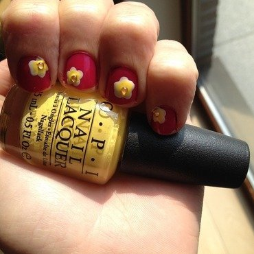 Flowers nail art by LoreV