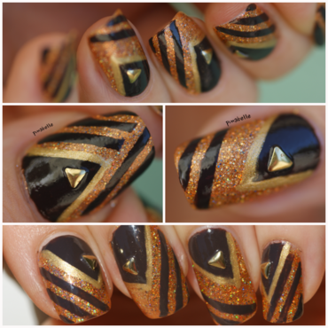 graphic with Sandy nail art by Pmabelle
