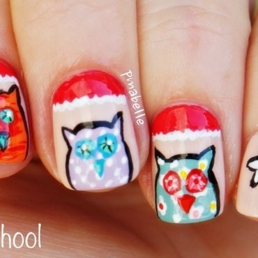 back to school with my daughter nail art by Pmabelle