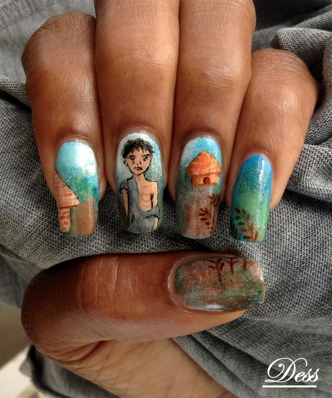 Stamp out hunger  nail art by Dess_sure