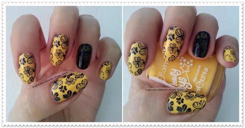 Yellow Flowers nail art by Oana  Alexandru