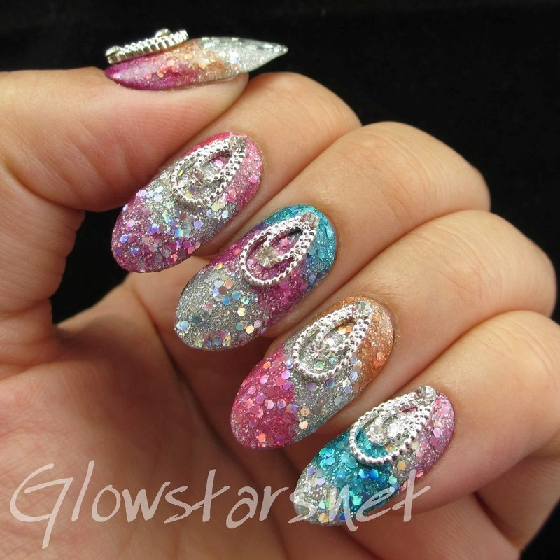Featuring Born Pretty Store Vintage Necklaces nail art by Vic 'Glowstars' Pires