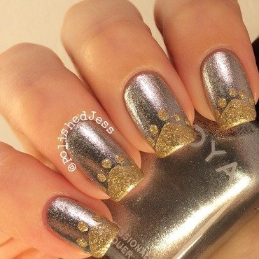 31dc2014 - Day Eight - Metallic  nail art by PolishedJess