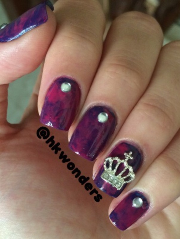 Vice 2 inspired nail art by Habiba  El-kallas