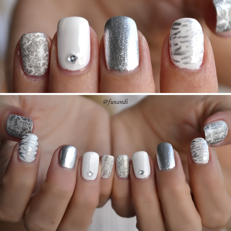 Shades of gray :) nail art by Andrea Manases - Shades Of Gray :) Nail Art By Andrea Manases - Nailpolis: Museum