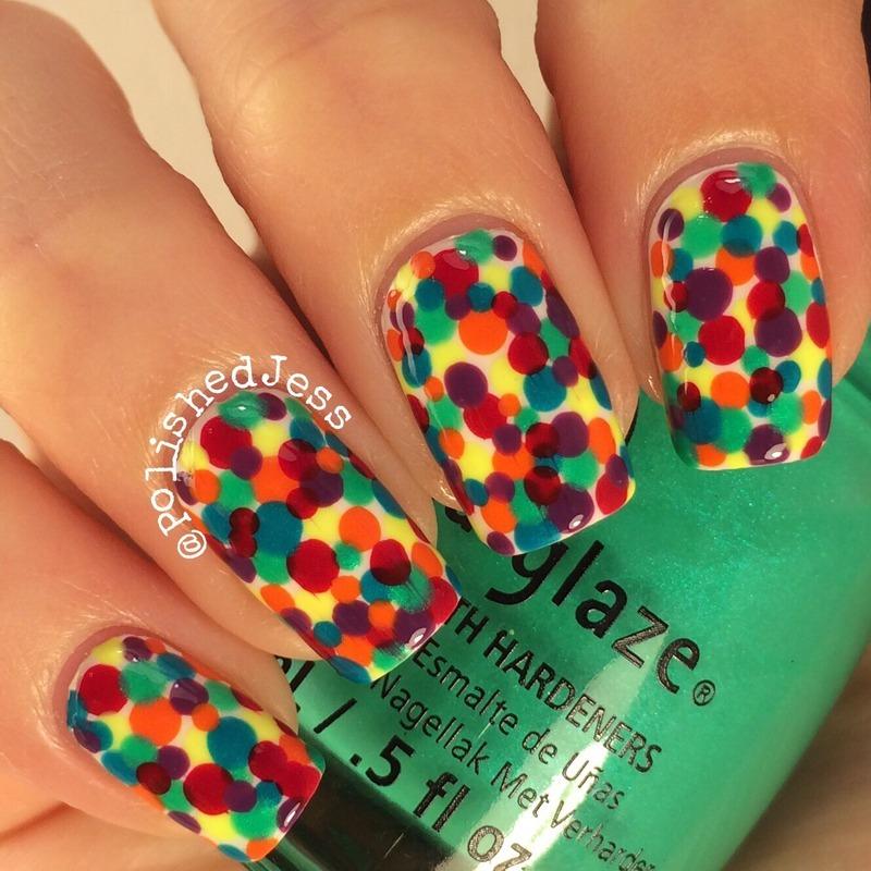 31dc2014 - Day Nine - Rainbow nail art by PolishedJess