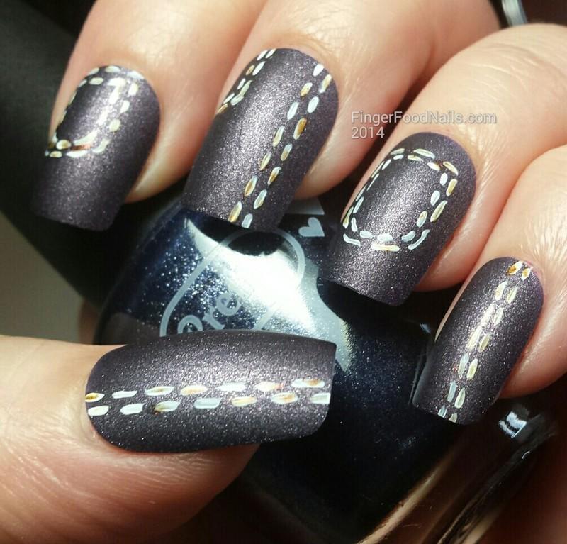 The Digit-al Dozen does the Terrific Twos - Cotton nail art by Sam