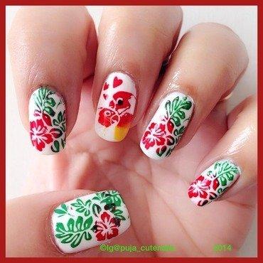 Love birds nail art nail art by Puja Malhotra