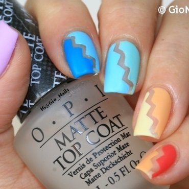 Pastel Rainbow nail art by Giovanna - GioNails