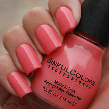 Sinful Colors Island Coral Swatch by xNailsByMiri