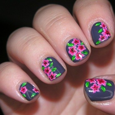 Kind of poppies nail art by Agni