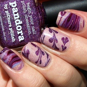 Whimsical Violet nail art by Emiline Harris