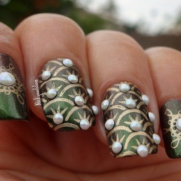 Pearl Collection nail art by Nicky