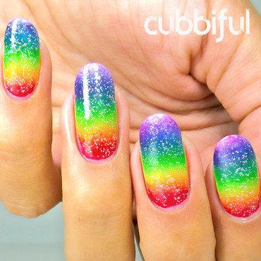 31DC2014 - Day 9: Rainbow Nails nail art by Cubbiful