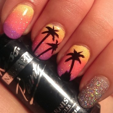 Tropical Sunset Ombré nail art by Steph