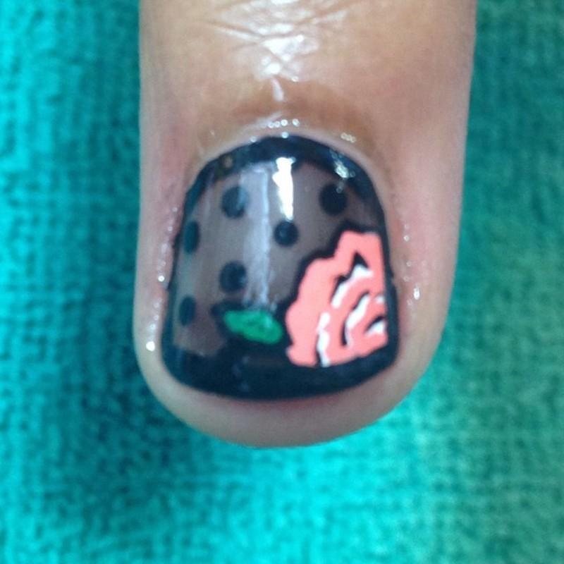 Girly Shadow Nail nail art by Beth Marie