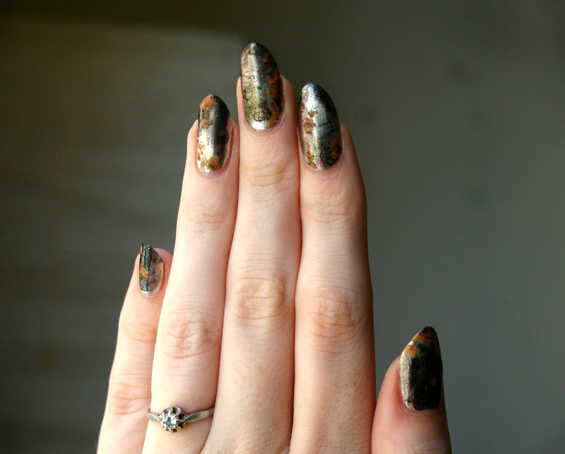 Rusty Nails nail art by ladycrappo