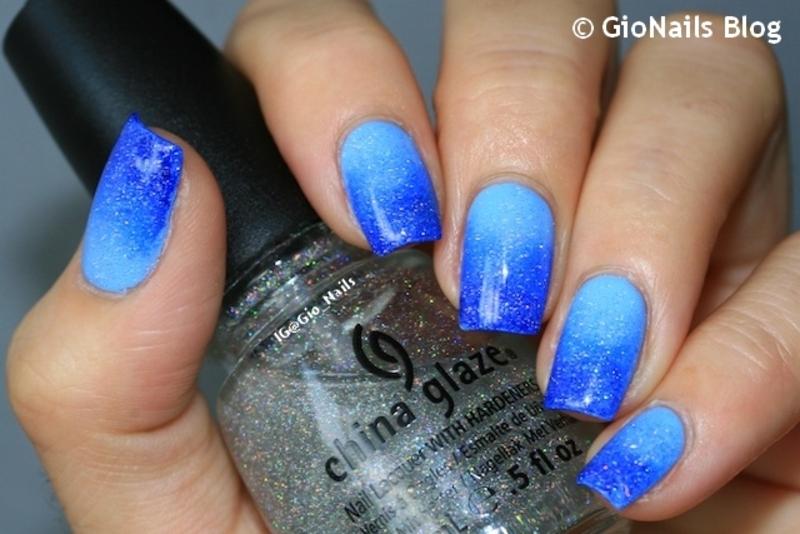 I Love Blue nail art by Giovanna - GioNails