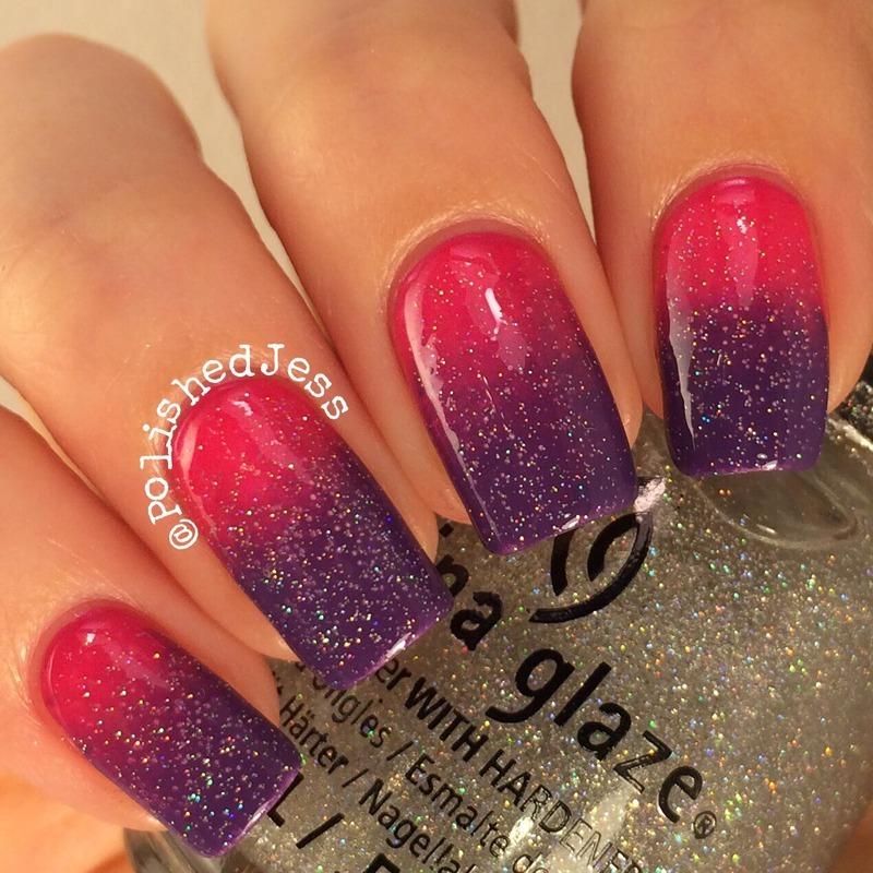 31dc2014 - Day Ten - Gradient  nail art by PolishedJess