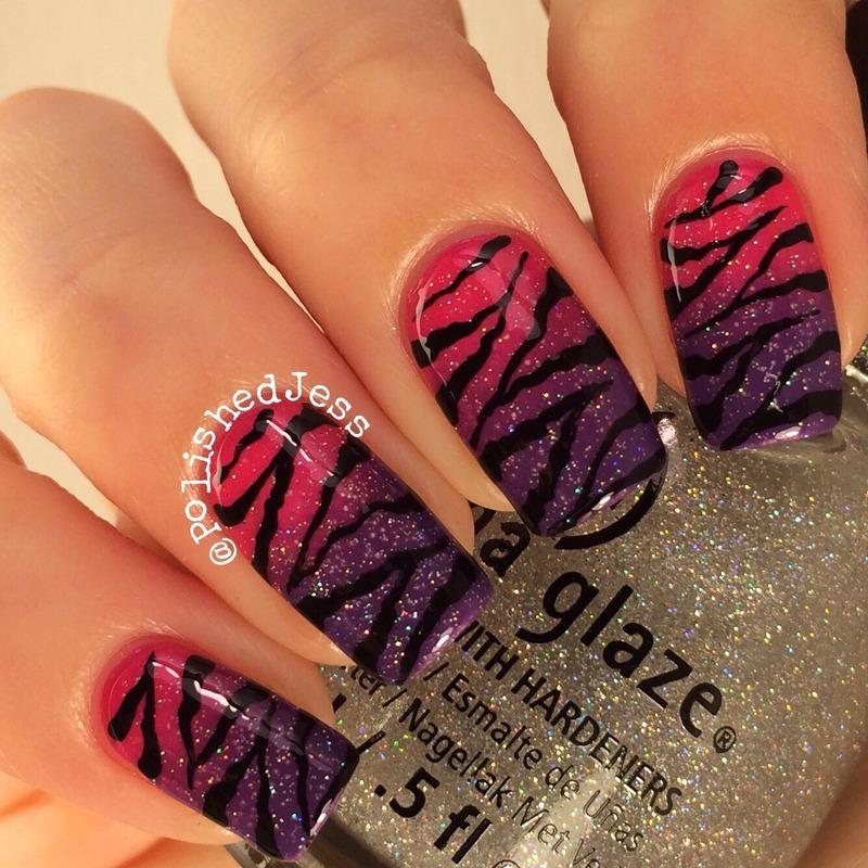 Gradient Stripes  nail art by PolishedJess