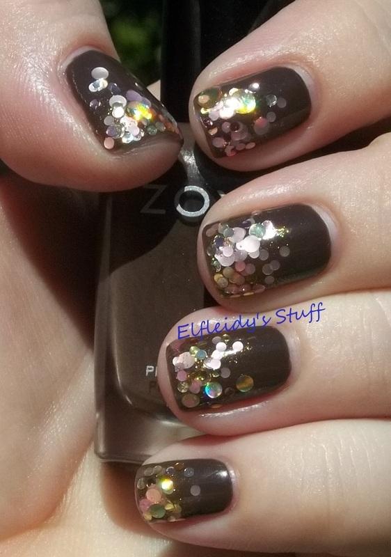 Glitter gradient nail art by Jenette Maitland-Tomblin