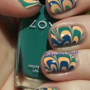 Zoya water marble nail art by Jenette Maitland-Tomblin