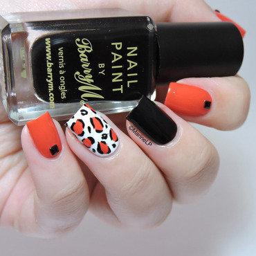 Leopard print accent nail 20 5  thumb370f